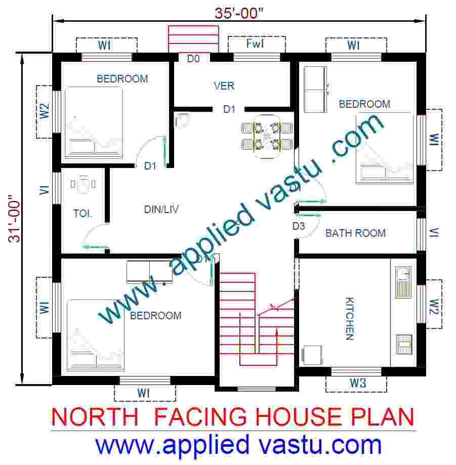 north facing house plan north facing house vastu plan