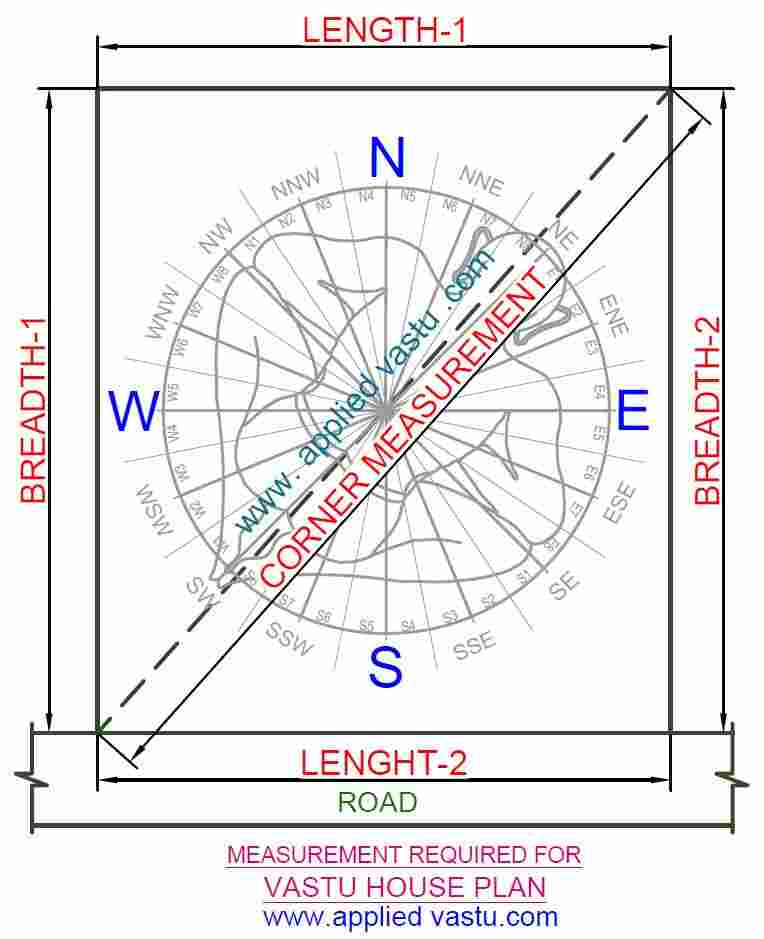 Measuremet For Vastu House Plan